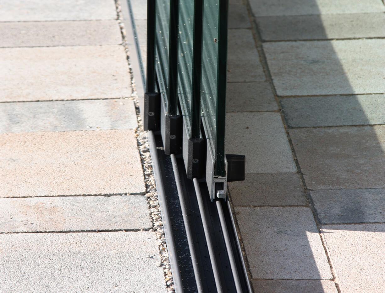 ERHARDT Terrassendach Schiebeelemente -