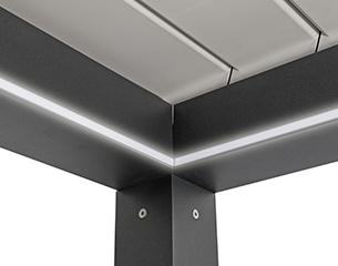Pergolamarkise QUBE Lamella - LED-Spots