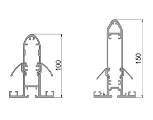 ERHARDT Terrassendach T100/ T150 - Sparrhöhen