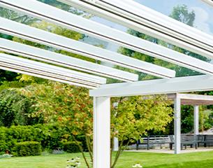 ERHARDT Terrassendach T100/ T150 INTEGRAL - Design