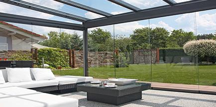 ERHARDT Terrassendach Glaselemente