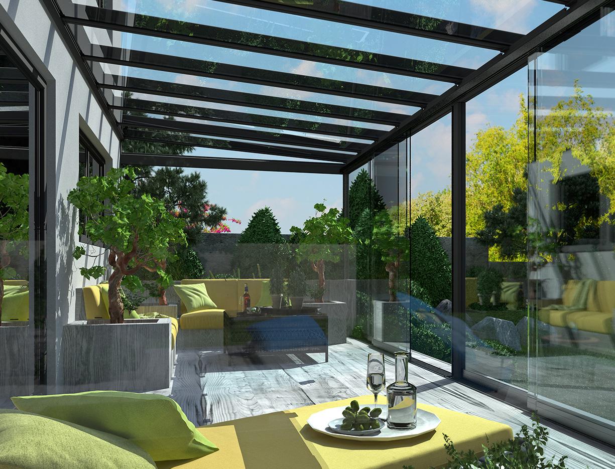 Terrace Roof Sliding Panels Erhardt Markisen